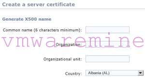 selfsigned certificate for vCO