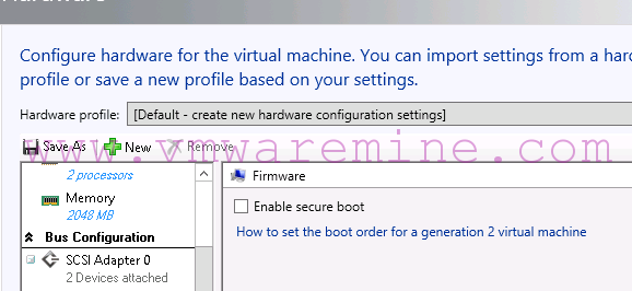 Uncheck Enable secure boot