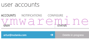 WAP deletion pending user