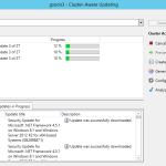 How to install updates on Hyper-v cluster running on the Nutanix