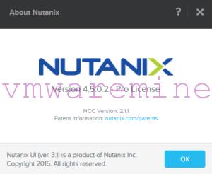 Nutanix cluster version