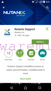Nutanix Support Mobile app on Google Play