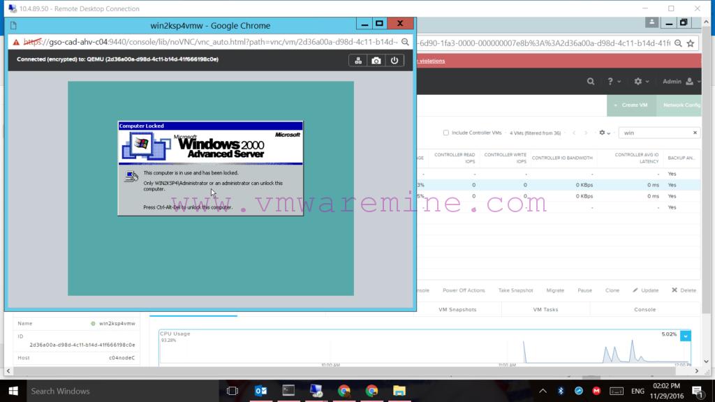 Windows 2000 On Nutanix AHV